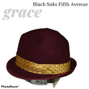 Grace Burgundy Wool Hat Designed in Tokyo